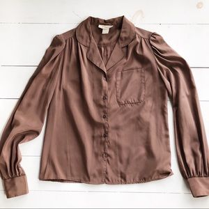 vintage brown/copper colored blouse